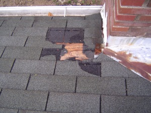 Shingles completely gone and exposed deck